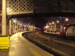 Platform 2 and 3 Newcastle by night