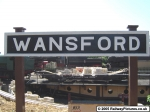 Wansford Station Sign